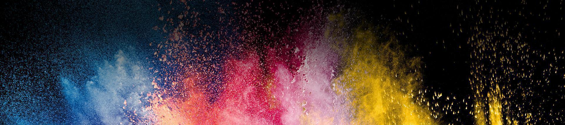 Różnokolorowe farby w proszku